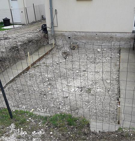 Travaux de fondations près d'Amiens