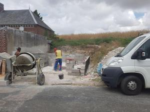 Construction de mur en parpaings Amiens